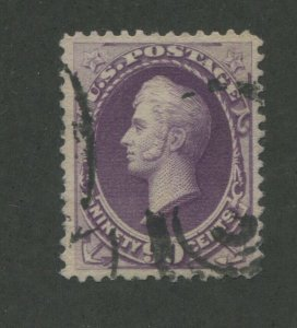 1888 United States Postage Stamp #218 Used VF Partial Postal Cancel