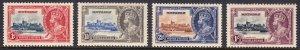 Montserrat - Scott #85-88 - MH - Gum toning - SCV $10.25