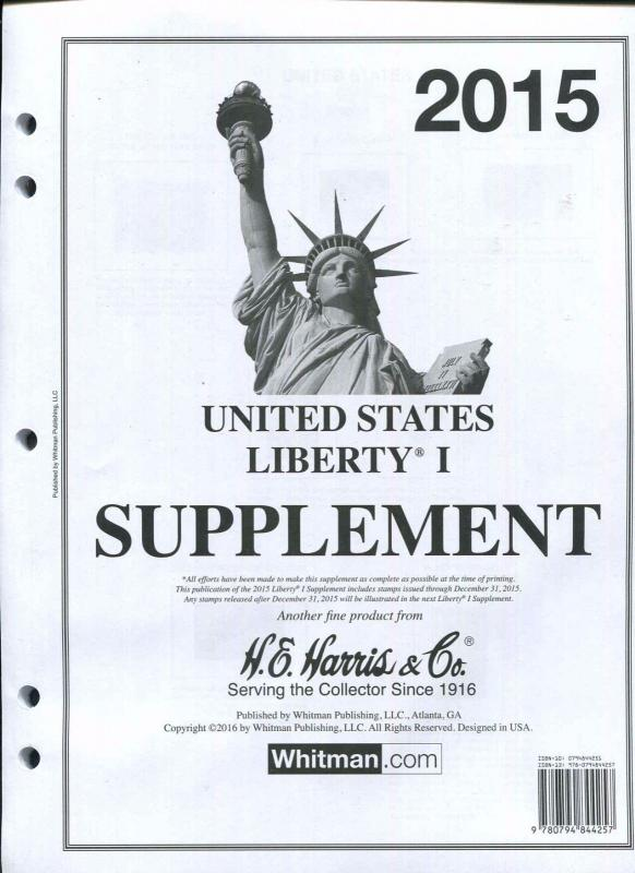 2015 Harris Liberty I  (1) Supplement, NEW Sealed