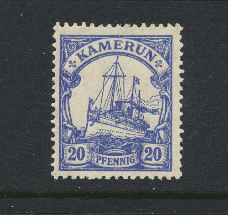 CAMEROON - GERMAN 1917, 20pf VF LH Sc#23a (SEE BELOW