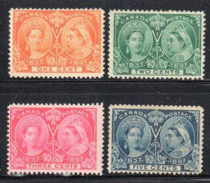 Canada #51 to 55 Jubilee MINT LH / H C$230.00