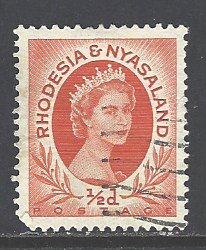 Rhodesia & Nyasaland Sc # 141 used (RS)