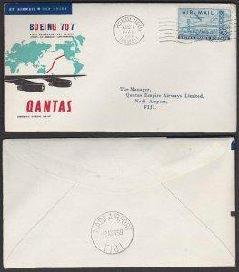 USA 1959 Qantas first flight cover Honolulu to Fiji........................L927A
