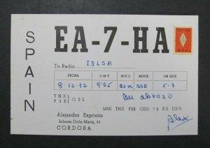 6439 Amateur Radio QSL Card Cordoba Spain