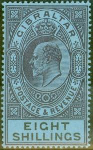 Gibraltar 1903 8s Dull Purple & Black-Blue SG54 Fine MNH