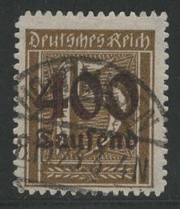 Germany Reich Scott # 273, used, exp h/s