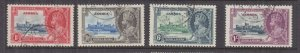JAMAICA, 1935 Silver Jubilee set of 4, used.