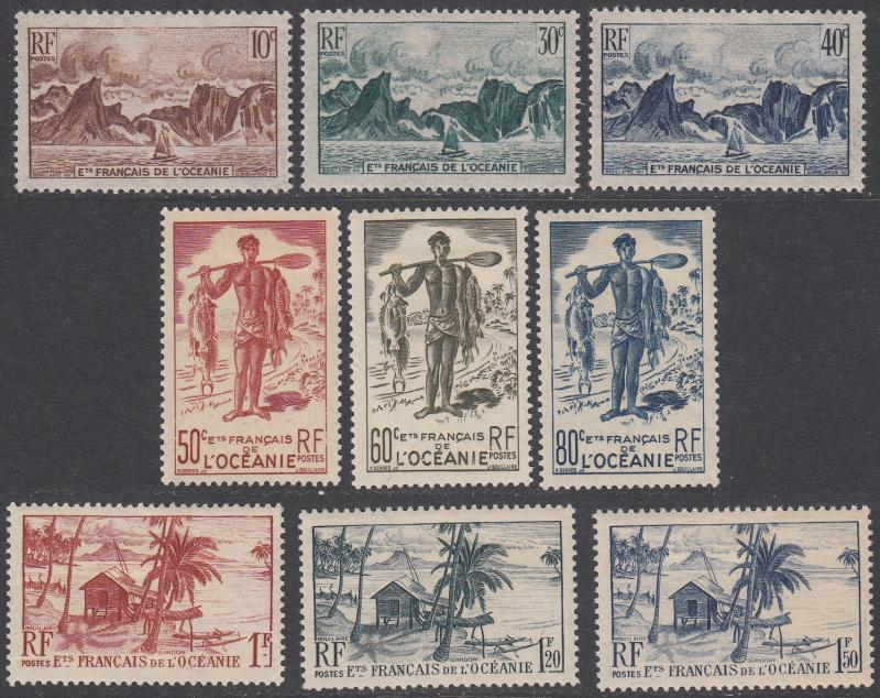 French Polynesia 160-178 MH CV $57.25