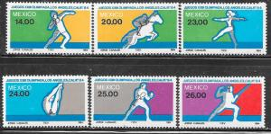 Mexico #1351-1356 '84 Olympics  Set (MNH)  CV $6.00