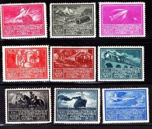 AT 1933 WIEN WIPA Poster Stamps Lot OG H