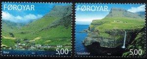 (CMA) Faroe Islands Scott #433-34 MNH Complete Set