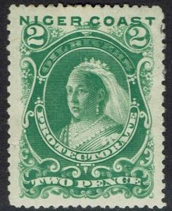 NIGER COAST 1894 QV 2D PERF 13.5 - 14