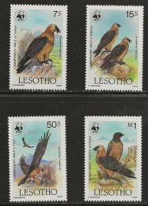 Lesotho (1986)  - Scott # 512 - 515,  MNH