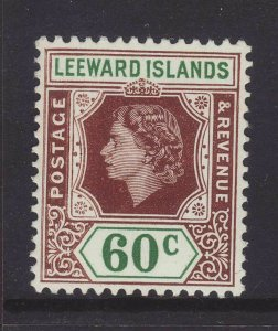 1954 Leeward Is 60c Mounted Mint SG137