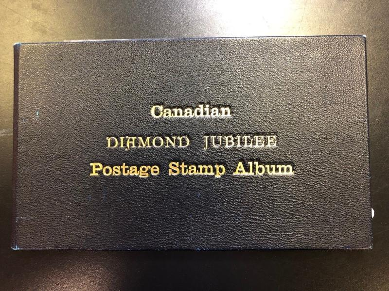 Canada #50 - #65 Mint Diamond Jubilee Original Postage Stamp Album
