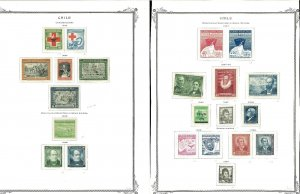 Chile 1944-1979 M & U Hinged on a Duplicated Mix of Scott Pages (41)