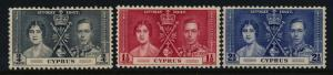 Cyprus 140-2 MNH King George VI Coronation