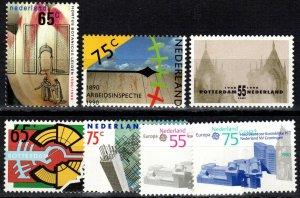 Netherlands #752-3, 756-60 MNH CV $5.45  (P69)