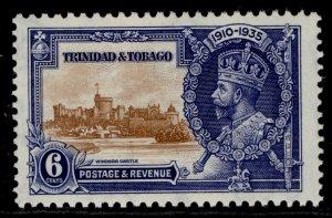 TRINIDAD & TOBAGO GV SG241, 6c brown & deep blue, M MINT.