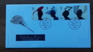 Great Britain 2001 Hats FDC