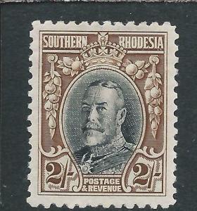 SOUTHERN RHODESIA 1931-37 2s BLACK & BROWN MM SG 25 CAT £38