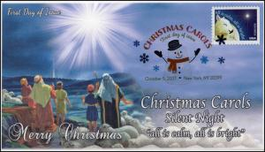 17-328, 2017, Christmas Carols, Silent Night, DCP, FDC, New York NY