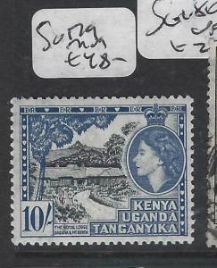 KENYA, UGANDA, TANGANYIKA   (PP0106B)  QEII  10/-     SG 179   MOG