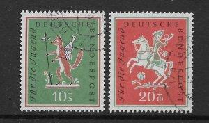 Germany B360-61  1950 set 2  VF  used