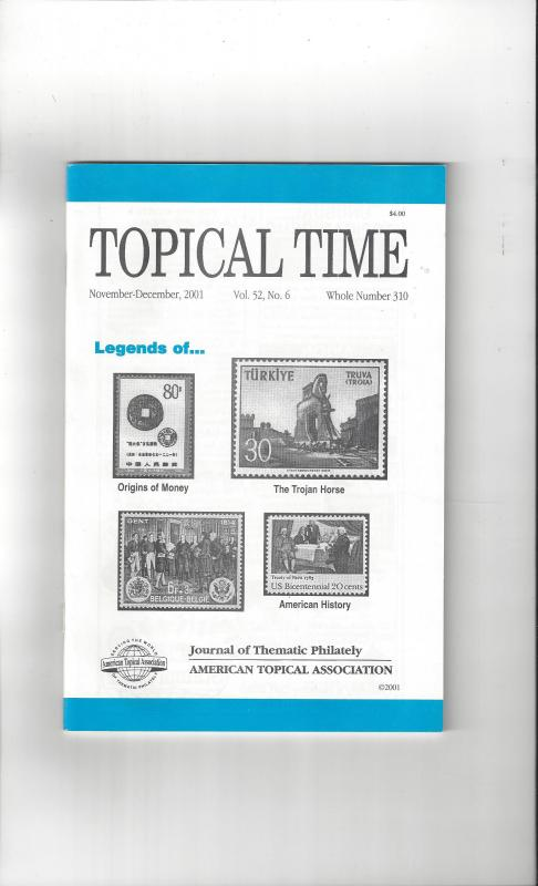 Topical Time Magazine NOV-DEC 2001  Number 310, ATA Journal