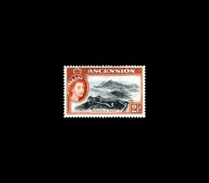 ASCENSION - 1956 - QE II - MOUNTAIN ROAD - # 66 - MINT - MNH SINGLE!