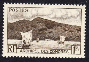Comoro Is. Boat Anjouan Bay 1v 1f SG#3 SC#32 MI#22