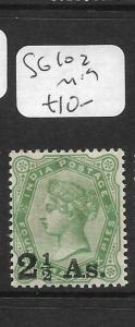 INDIA     (PP1305B)  QV  2 1/2A SURCH SG 102  MOG