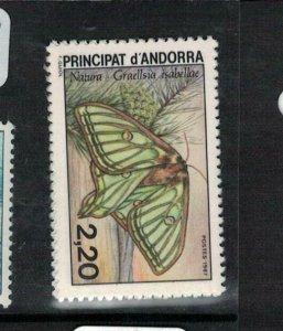 Spanish Andorra SC 356 Butterfly MNH (9eej)