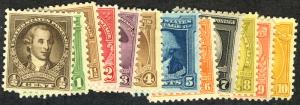 US  #704 - 715 COMPLETE SET, VF mint hinged,  a lovely complete set,  Fresh C...