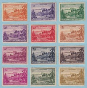 NORFOLK ISLAND 1 - 12  MNH ** AND MINT HINGED OG * NO FAULTS VERY FINE ! - W144