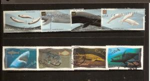 CANADIAN SETS ON WHALES&OCEAN WATER FISH USED STAMPS  LOT#70
