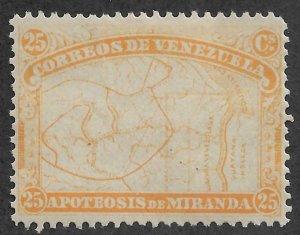 Venezuela #139a > 25c of 1896 > Mint Hinged / SCV $4