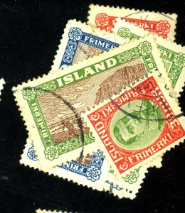 ICELAND 122 125 144-8 USED FVF  Cat $44