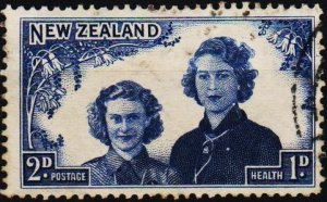 New Zealand. 1944 2d+1d S.G.664  Fine Used