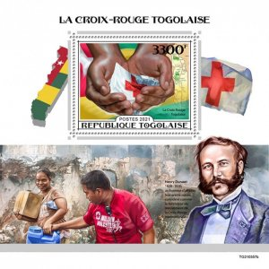 TOGO - 2021 - Togolese Red Cross - Perf Souv Sheet - Mint Never Hinged