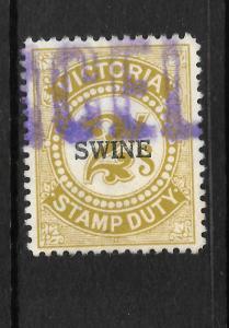 VICTORIA  1928   2/-   SWINE DUTY   FU