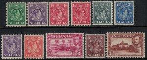 St. Lucia #110-7,9-21*  CV $13.35