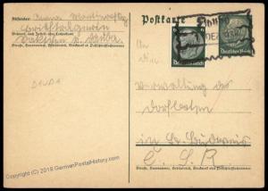 Germany Sudetenland 1938 Dauba Annexation Provisional Cover 73182