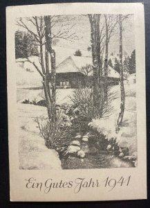 1940 Germany Buchenwald Concentration KZ Camp Christmas Postcard Cover 400 Zeman
