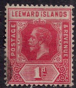 Leeward Islands 1912 - 22 KGV 1d Red used Die 1 SG 48 ( G1226 )
