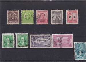 PHILIPPINES MOUNTED MINT & OR  USED STAMPS ON STOCK CARD  REF R813