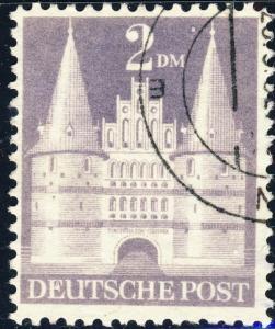 ALLEMAGNE / GERMANY Bizone 1948 Mi.98.YIIB(98.IIwg) 2DM T.2 p.11 - VF Used (i)