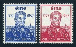 Ireland 161-162,lightly hinged.Michel 132-133. Adm.William Brown,Argentine Navy.