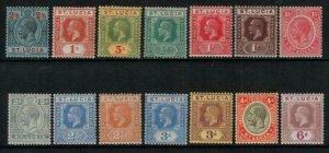 St Lucia 1921-4 SC 76-89 LH