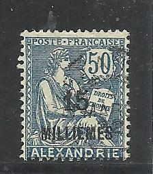 French Offices in Egypt #56 used cv $2.75